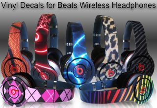 Vinyl Skins for Monster Beats Wireless by Dr Dre Choose Any 2 Designs Free SHIP