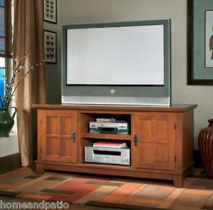 Arts Crafts Cottage Oak Plasma TV Stand TV Console