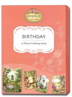 Tea Cups Holly Pond Hill Birthday Cards Box of 12