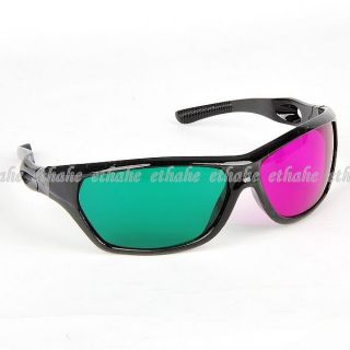 Green Purple 3D Movie Glasses Anaglyph Film Game E1EO0G