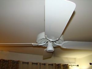 Hunter ceiling fans on popscreen vintage hunter ceiling fan white 22306 cast iron w solid state control made usa aloadofball Gallery