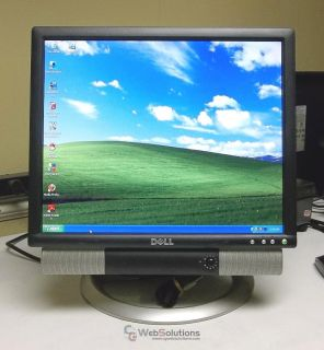 "Dell 1704FPVT 17"" LCD TFT Computer Desktop Monitor DVI VGA USB w AS500 Speaker"