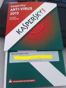 Kaspersky Anti Virus 2013 Essential PC Protection 1 PC 1 Year Serial Key
