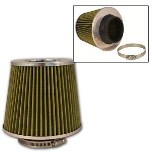 Universal Olive 3'' Inlet Cone Dry Flow Air Filter Turbo Charger Super Charger