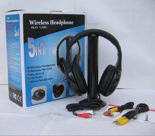 Wireless Headphone Earphone Headset Wireless Monitor FM Radio for MP4 PC TV Audi
