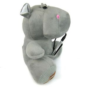 Lovely Hippo Plush Toy Doll USB Speakers TF Card MF PC  Player Gifts