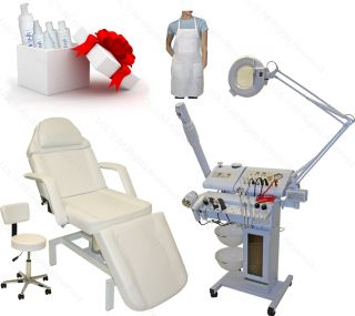 14 in 1 Facial Machine Microdermabrasion Hydraulic Massage Table Salon Equipment