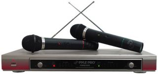 PylePro PDWM2000 Dual VHF Wireless Microphone System