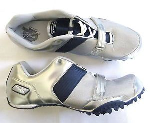 Reebok Men's Sprint Track Shoes Silver Blue Size 15 No Spikes and No Wrench