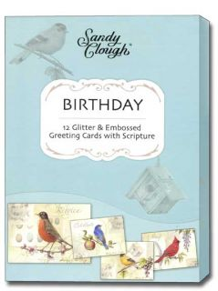 Song Birds Scriptured Birthday Cards Box of 12