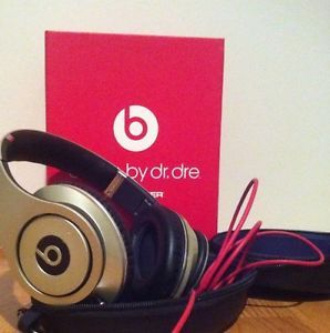 Dr Dre Beats Studio Headphones Gold and Black