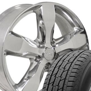 "Brand New 4 Set 20x8"" Jeep Grand Cherokee Polished Wheels Goodyear Tires"