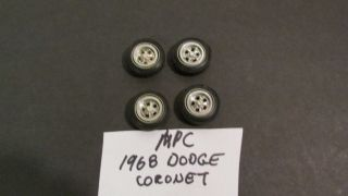 MPC 1968 Dodge Coronet Goodyear Tires and Mag Wheels Used Item 68