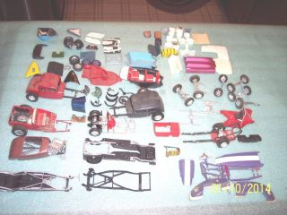 Vintage Classic Plastic Car Junkyard Hot Rods Dragsters Gassers Chassis More
