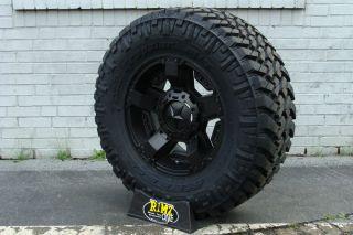 "17"" XD Rockstar 2 Rsii Wheels Black 285 75R17 Nitto Trail Grappler Tires 34"""