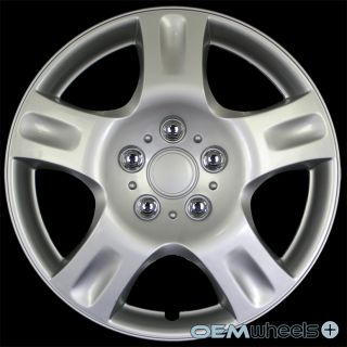 """4 New Silver 16"""" Hub Caps Fits Mazda SUV Car FWD 3 5 Center Wheel Covers Set"""