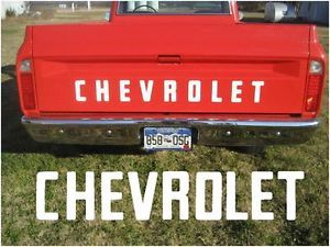 1967 1972 Fleet Side Chevy Pickup Truck Tailgate Letters Decals 67 68 69 70 71