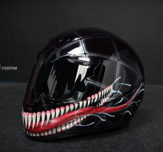 Venom 2 Airbrushed Motorcycle Custom Paint Helmet Full Face Dot KBC Sparx