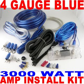 3000 Watts 4 Gauge Amp Kit Car Amplifier Install Power Fast USA