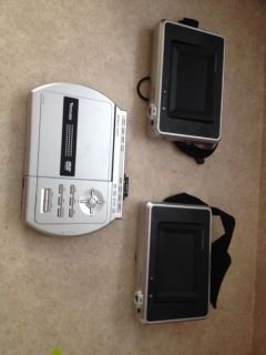Venturer DVD PVS1950D Dual LCD Portable Car DVD Player Used Untested Unknown