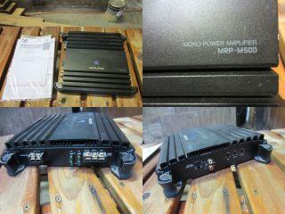 Alpine MRP M500 Mono Subwoofer Car Amp 500 Watts RMS 0093276300905