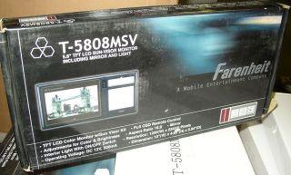 "Farenheit T 5808MSV 5 8"" Sun Visor Monitor Screen LCD w Mirror"
