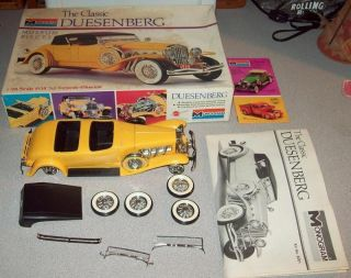Vintage Monogram The Classic Duesenberg Model Kit Museum Pieces Series