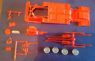 1969 Dukes of Hazard General Lee Dodge Charger Engine Chassis Parts Lot AMT