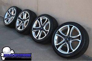 Ford Edge Sport Factory Wheels Rims Polished Black Pirelli
