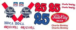 25 Charlie Brinkley Pabst Blue Ribbon Camaro 1 32nd Scale Slot Car Decals