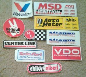 Lot of 10 Automotive Racing Stickers NASCAR NHRA Drag Stock Car Decals 12