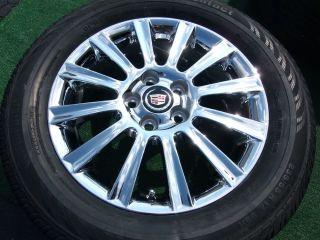 4 New Factory GM Chrome Cadillac Wheels Tires DTS cts SLS Eldorado DeVille
