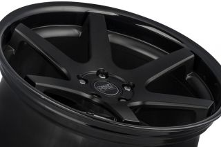 """20"""" Nissan Maxima Concept One CS6 6 0 Concave Black Staggered Wheels Rims"""