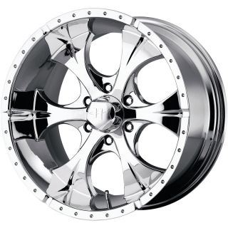 17x8 Chrome Helo HE791 Wheels 5x4 5 6 Lifted Ford Ranger Explorer