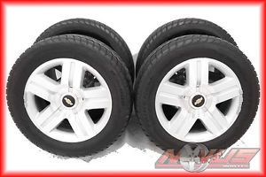 "20"" Chevy Silverado LTZ Tahoe Machined Wheels Tires OEM 18 22 GMC Sierra Yukon"
