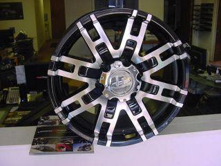 20x9 Helo 835 Black Wheels Chevy Ford Dodge 8 Lug 6 Lug