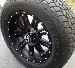 "20"" Matte Black Wheels Tires Dodge Truck RAM 1500 20x9 Lonestar 20 inch Rims"