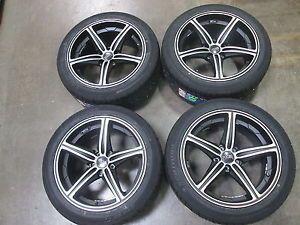 FOOSE Speed Black Machined Mustang Wheel Sumitomo Tire Kit 19x9 5
