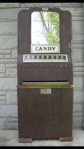 National Candy Machine Gas Pump Pedal Car Vintage Sign Vintage Candy Machine