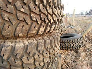 4 Goodyear Wrangler MTR MT R 37x12 5x16 5 Mud Tires H1 Military HMMWV 98 Tread