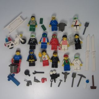Lego City Minifigs Accessories Town Police Motorcycle Classic Vintage Tools