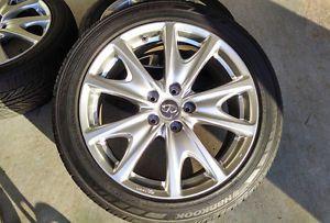"""Infiniti G37S 18"""" Enkei Wheels Rims Tires Set Maxima Altima Accord 5x114 3"""