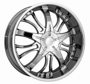 22 inch Strada Brezza Chrome Wheels Rims 5x108 5x4 25
