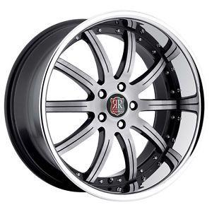 "19"" MRR RW3 Black Chrome Wheels Rims Fit Nissan Altima Maxima Murano 350Z 370Z"