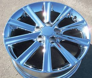 """Exchange Your Stock 2012 17"""" Factory Toyota Camry Hybrid XLE Chrome Wheels Rims"""