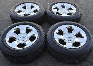 "20"" Chevrolet Silverado 1500 Truck Chrome Wheels Rims Tires Factory 2014"