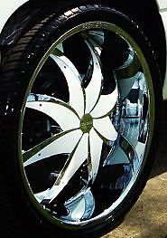 22 inch Rims Wheels Tires Package Rocknstarr Starr 608 Firehouse Chrome 22x8 5