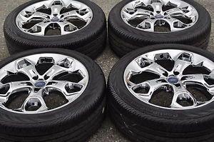 "19"" Ford Escape Chrome Wheels Rims Tires Factory Wheels 2013 2014 3947"