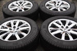 """Ford Edge 18"""" Chrome Wheels Rims Tires 2011 2012 2013 3849"""