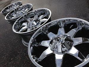 """20"""" Fuel Octane Ford F250 Superduty Chrome Wheels Rims 8x170 BMF RBP Rockstar XD"""